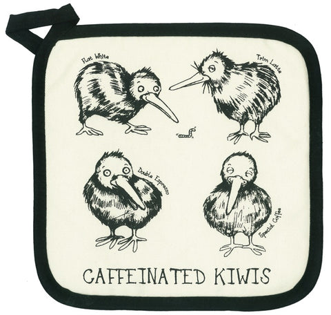 Caffeinated Kiwis Pot Holder