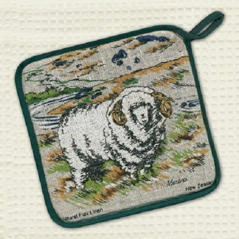 Merino Sheep Pot Holder