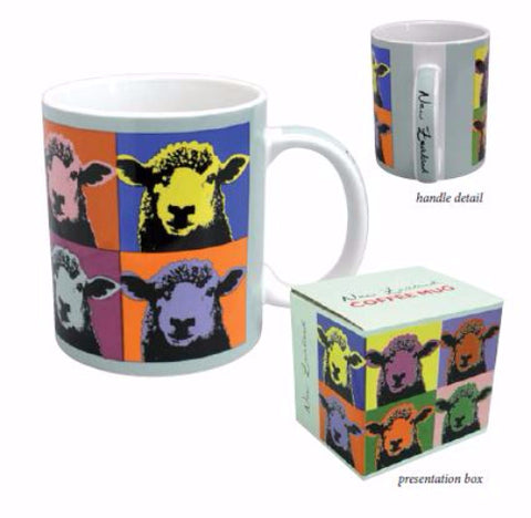 Pop Art Sheep Ceramic Mug
