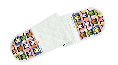 Pop Art Sheep Double Oven Mitt