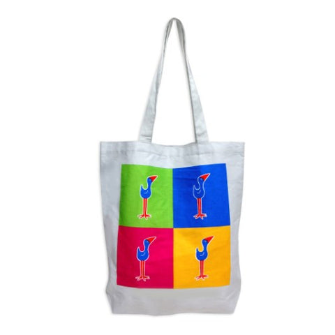 Pukeko Pop Art Tote Bag