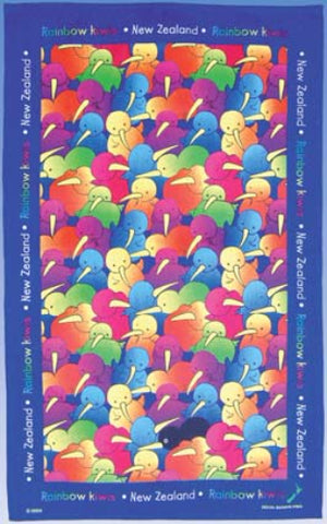 Rainbow Kiwi Tea Towel