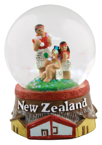Maori Village Snow Globe Small