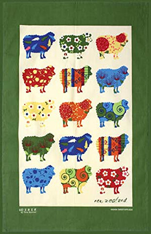 Sheep Appliqué Tea Towel