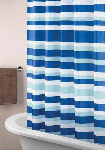 Striata Polyester Shower Curtain