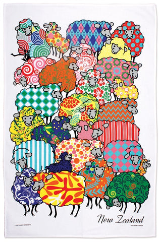Psychedelic Sheep Tea Towel