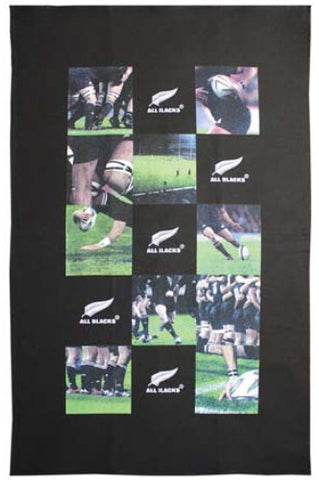All Blacks Photo Montage Tea Towel