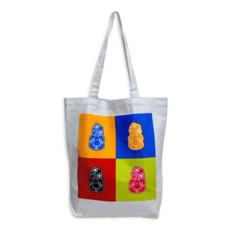 Tiki Pop Art Tote Bag