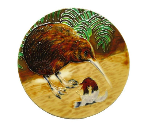 Ceramic Tile : Kiwi in circular tile