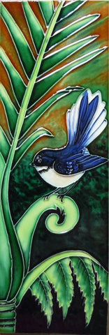 Ceramic Tile Fantail on Palm Leaf