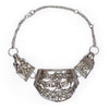 Silver Bull & Lion Necklace