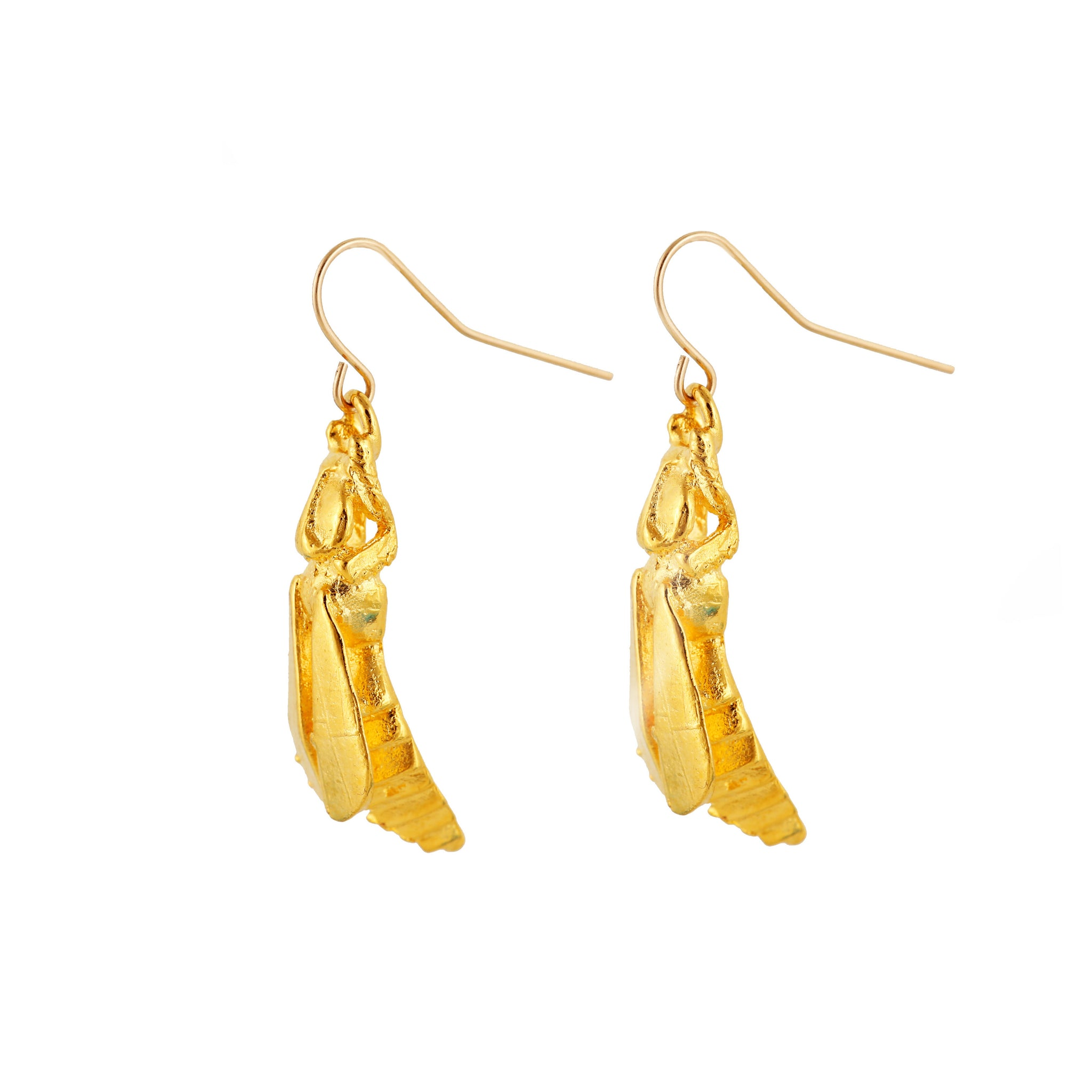 Gold Wasp Earrings