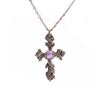Amethyst Brocade Cross