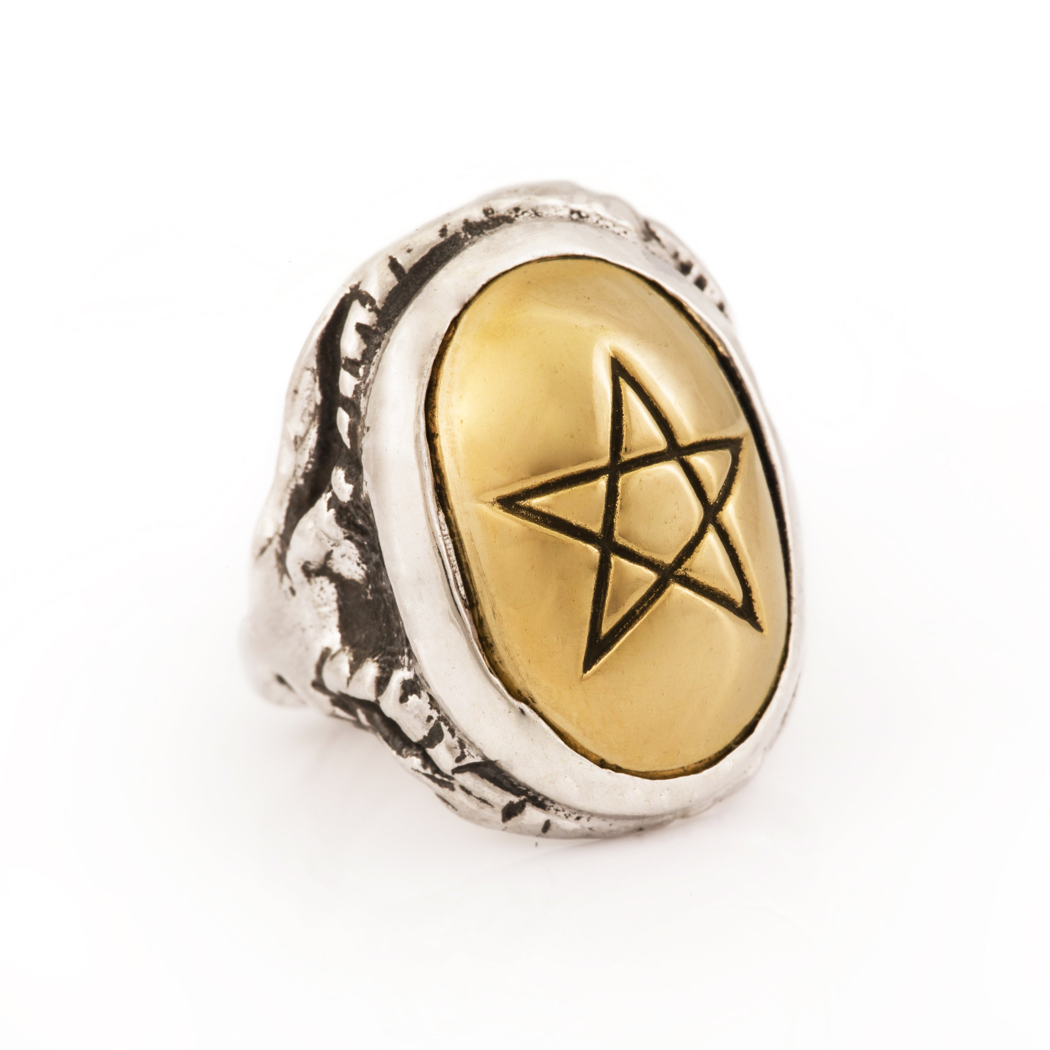 Yellow Gold Angel Heart Ring
