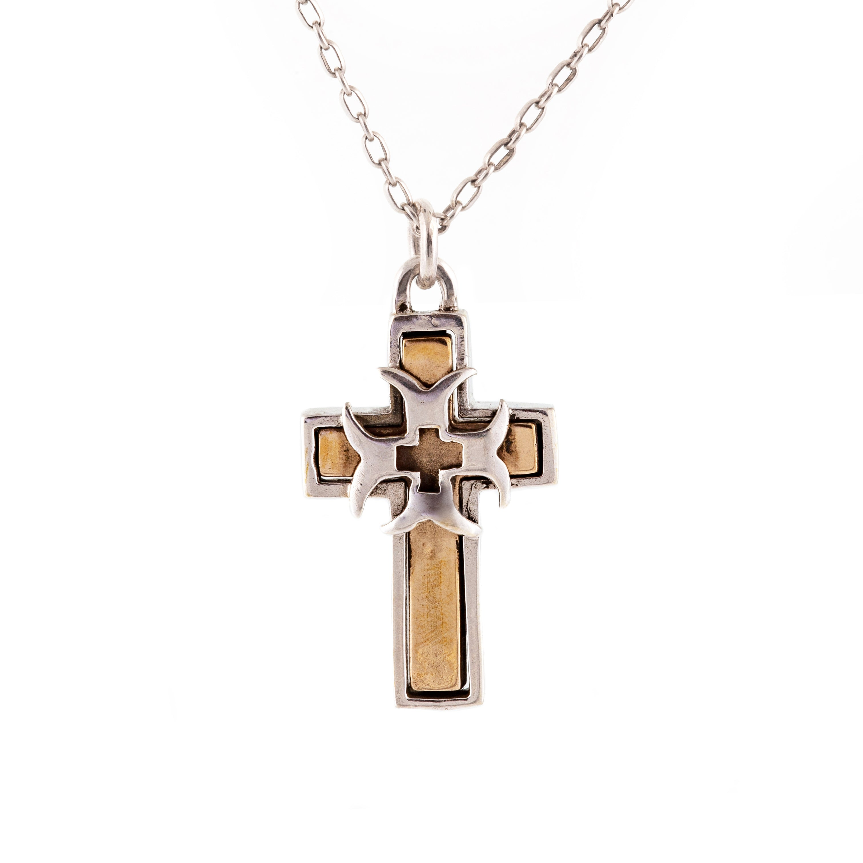 Bronze Crusader Cross Pendant