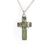 Chrysoprase Crusader Cross Pendant
