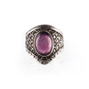 Amethyst Dragon Scale Shield Ring