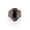 Black Onyx Dragon Scale Shield Ring