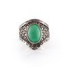 Chrysoprase Dragon Scale Shield Ring