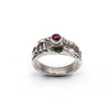 Rhodolite Garnet Ancient Temple Ring