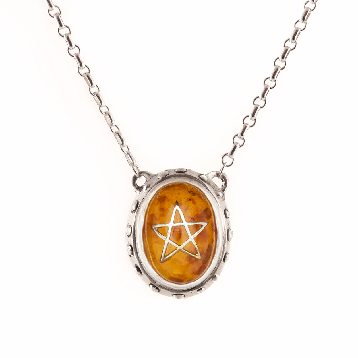 Original Amber Angel Heart Necklace