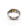 Citrine Pyramid Ancient Temple Ring