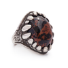 OOAK Jasper Dragon Tooth Ring