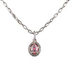 Pink Tourmaline Angel Heart Charm