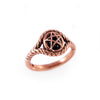 Black Onyx 10K Rose Gold Pagan Priestess Ring