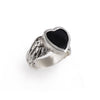 Black Onyx Flying Heart Ring