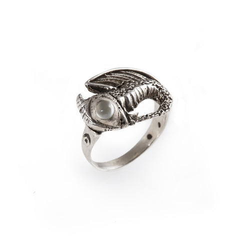 Moonstone Baby Dragon Ring