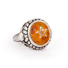 Amber Baby Angel Heart Ring