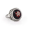 Black with Blood Drops Baby Angel Heart Ring