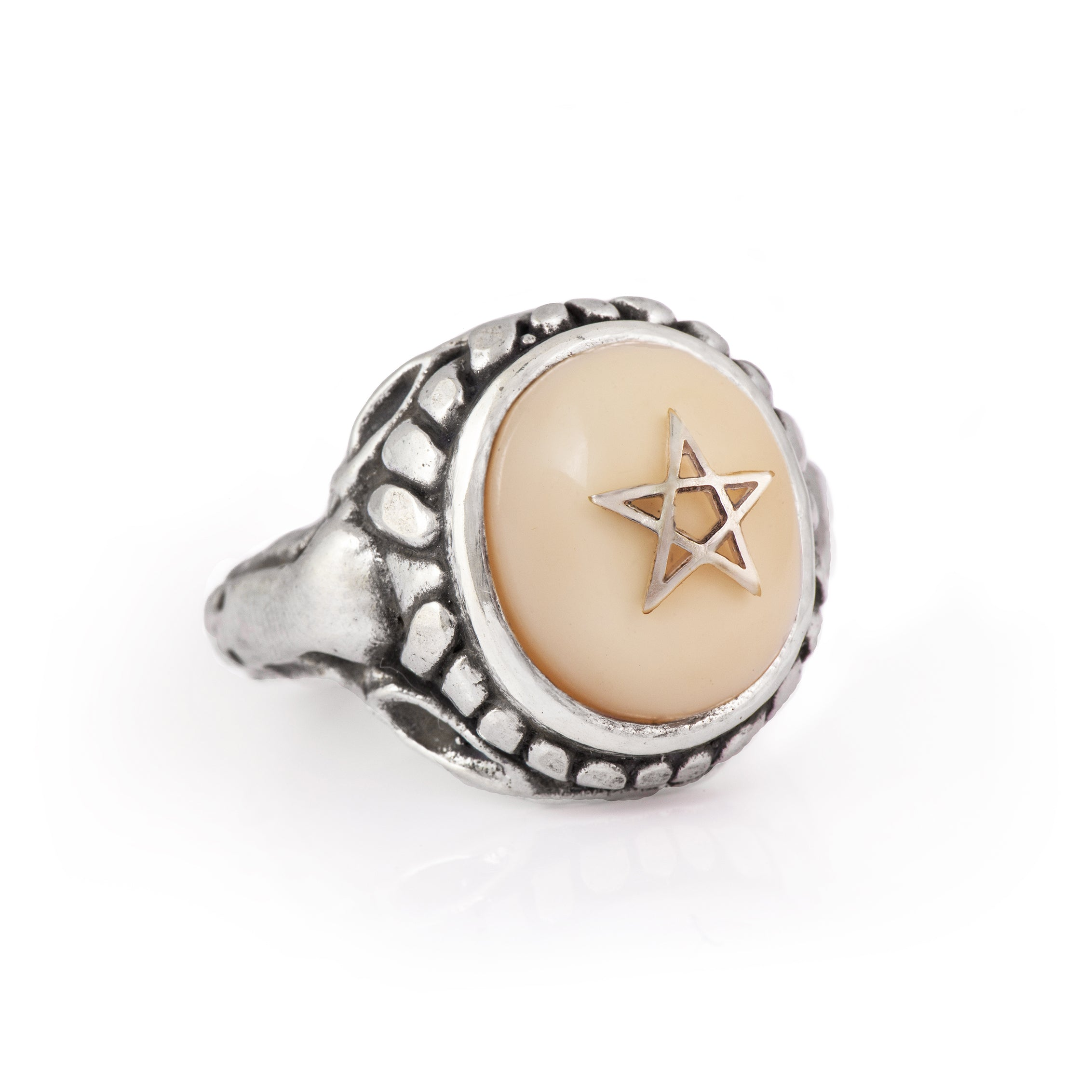 NYC Ivory White Baby Angel Heart Ring