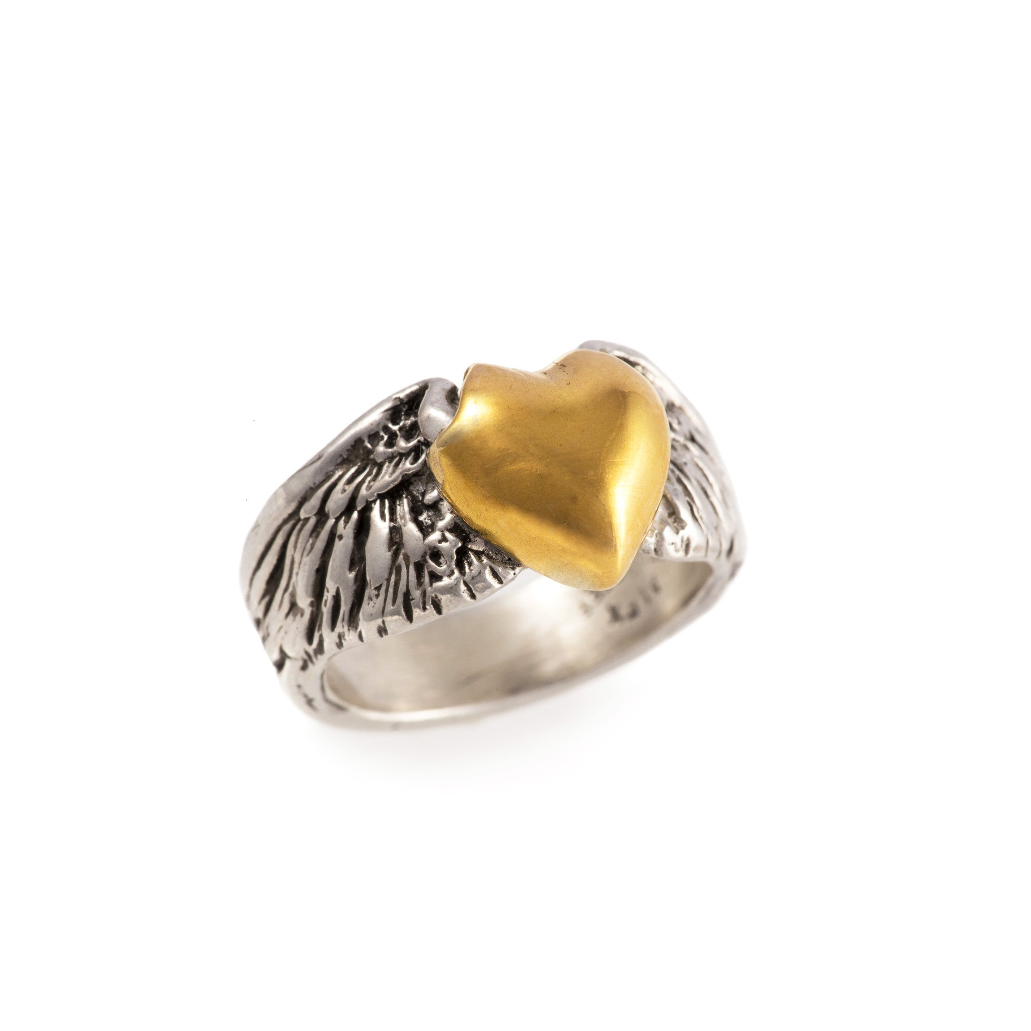 Gold Flying Heart Ring