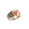 14k Rose Gold Flying Heart Ring