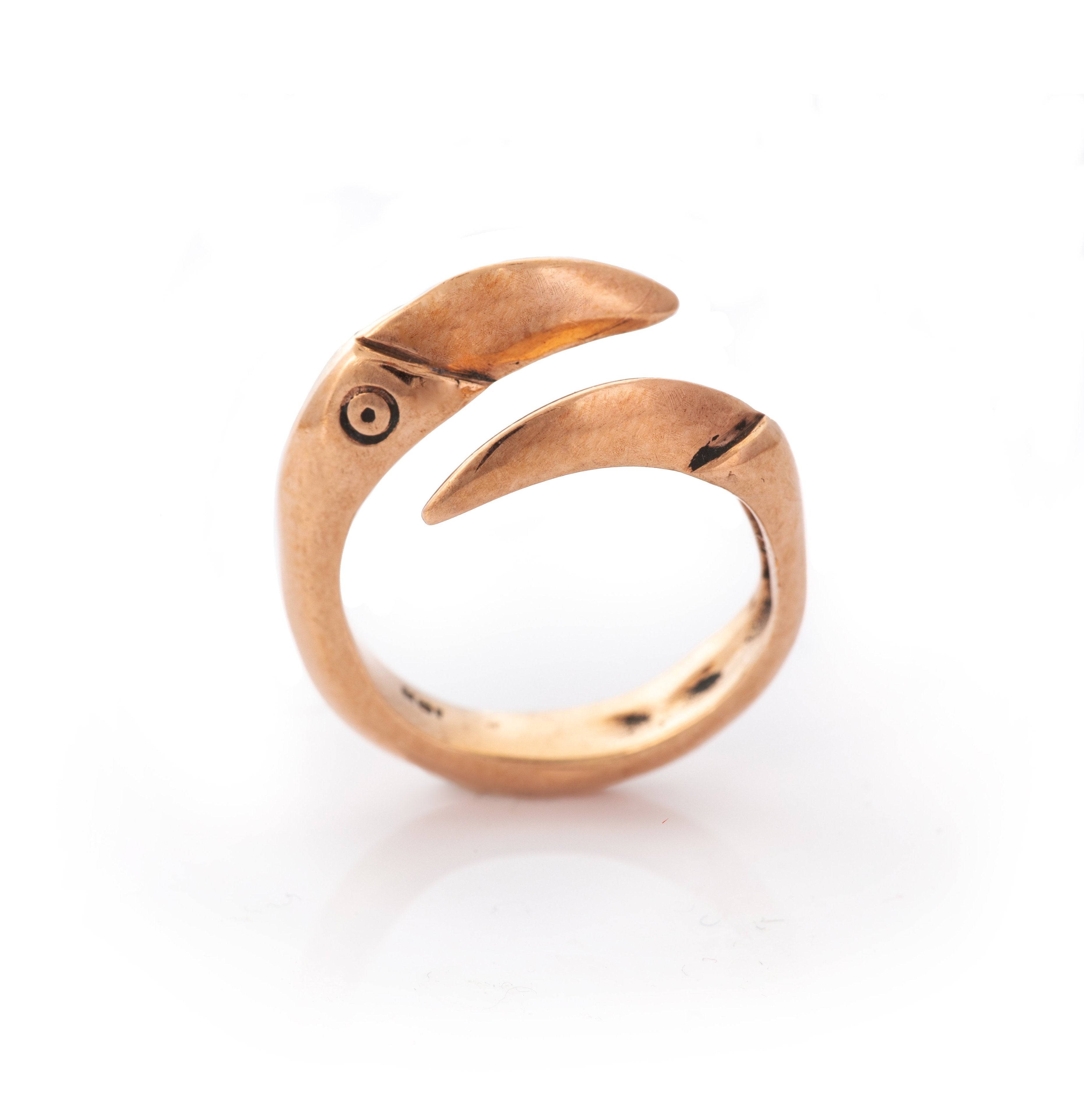 14K Rose Gold Dragon Claw Ring