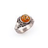 Amber Baby Devil Heart Ring