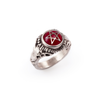 OOAK Tokyo Red with Ruby Eyes Baby Devil Heart Ring
