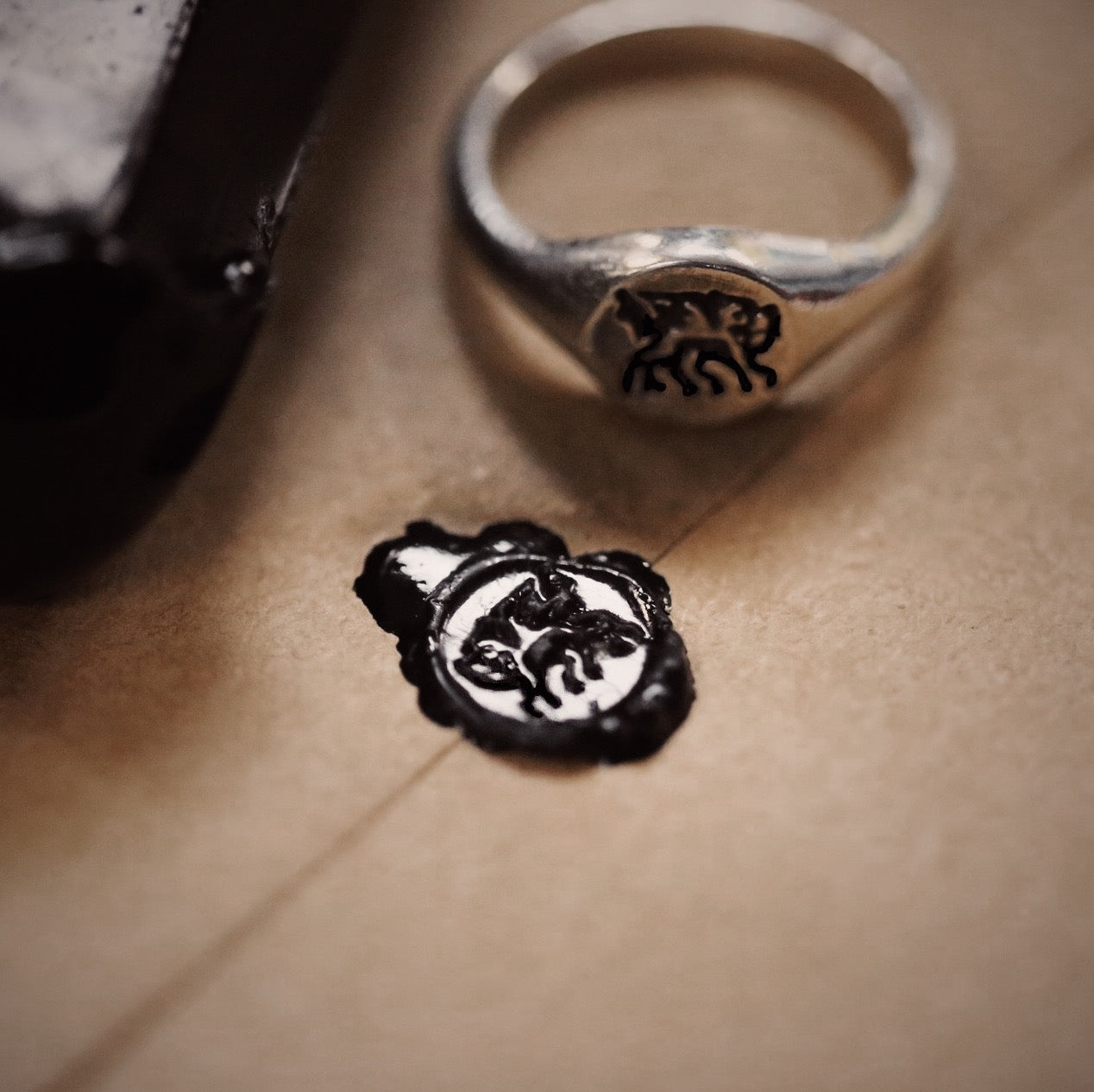 Small Welsh Dragon Signet Ring