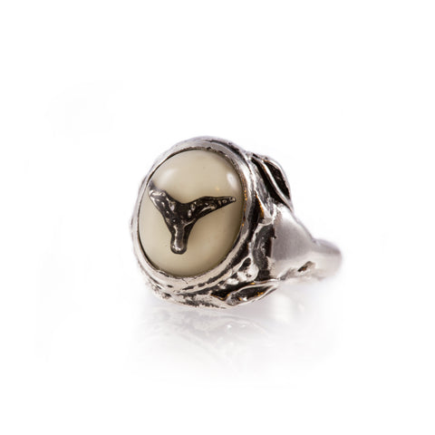 Baby Baphomet Ring (White)
