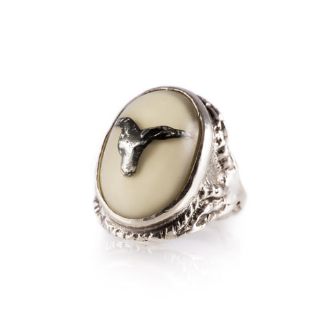 Baphomet Ring (White)