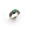 Chrysoprase Brocade Ring