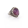 Amethyst Baby Dragon Tooth Ring
