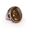 Umber Brown Thorn Star Angel Heart Ring