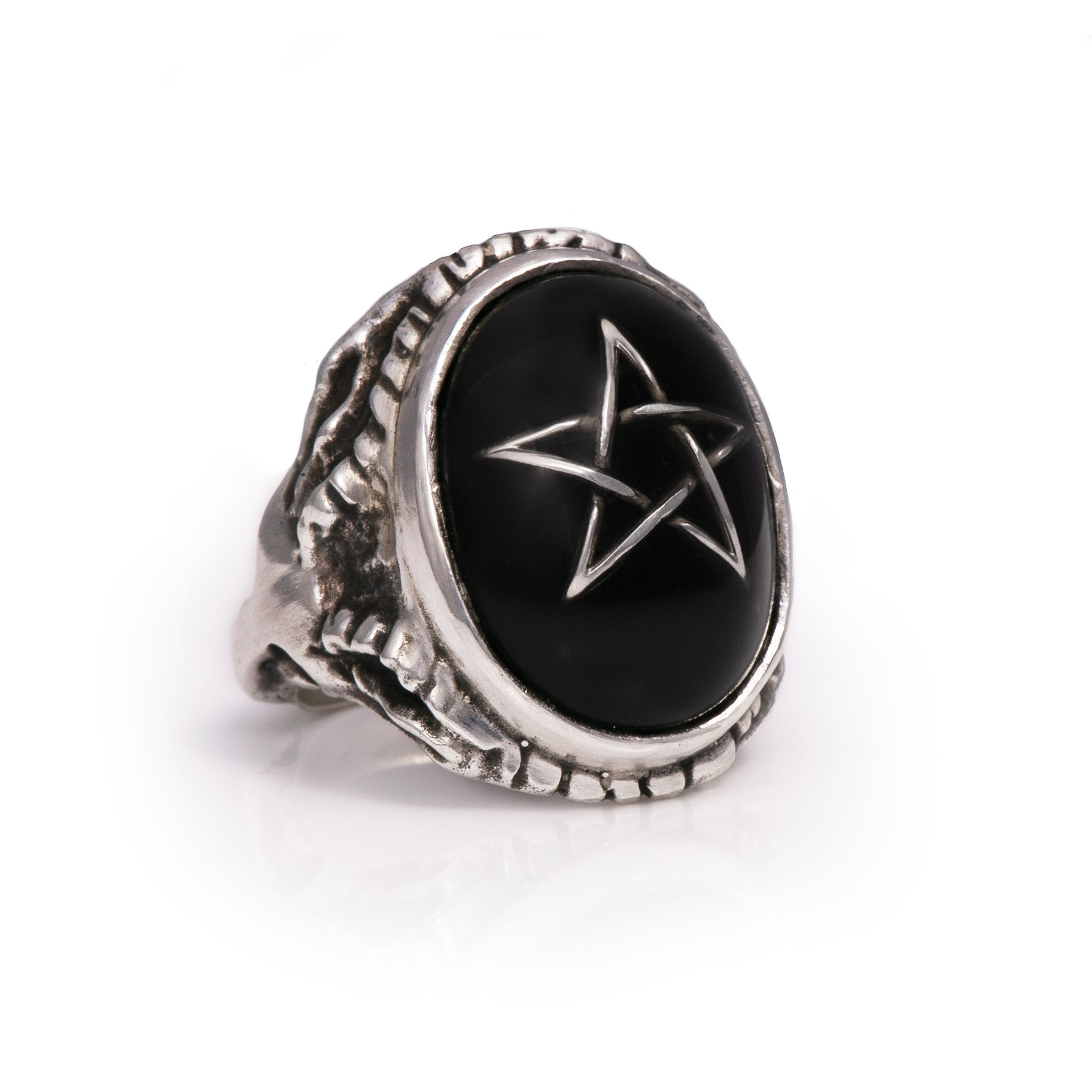 Infinity Star Black Angel Heart Ring