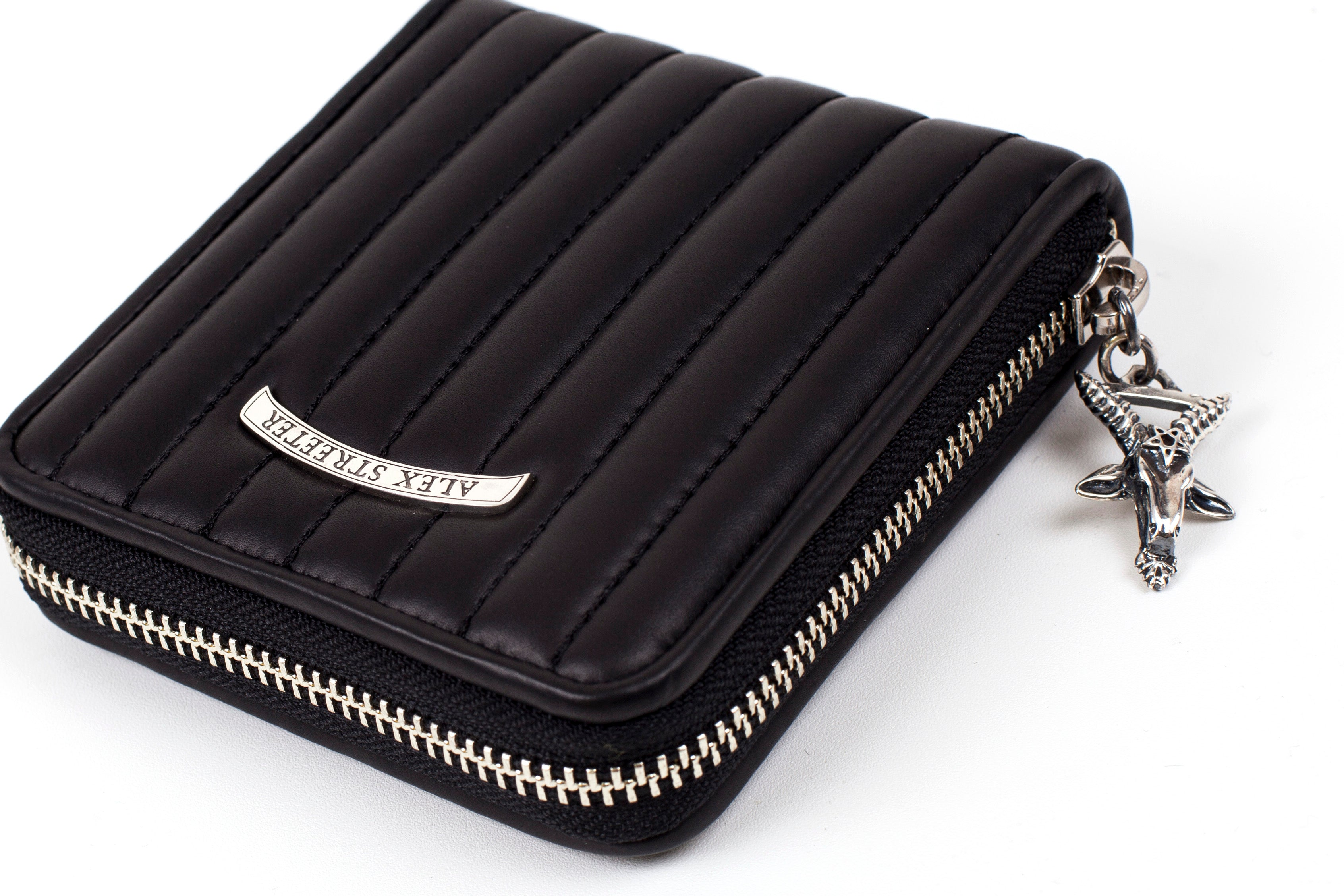 Goathead Zip-Around Wallet (Stripe Stitch)