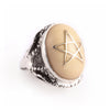 NYC Ivory Angel Heart Ring