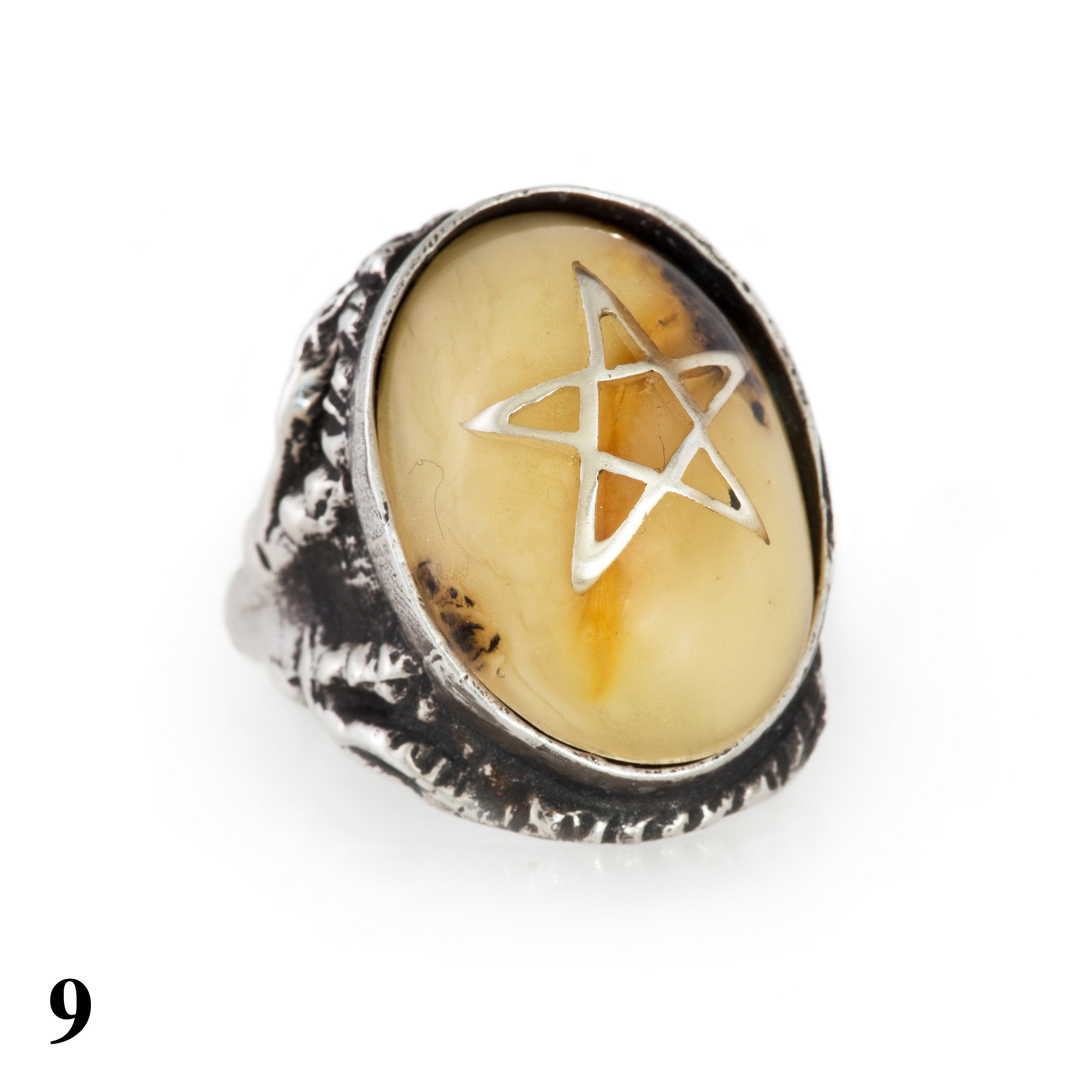 Revival Amber Angel Heart Ring