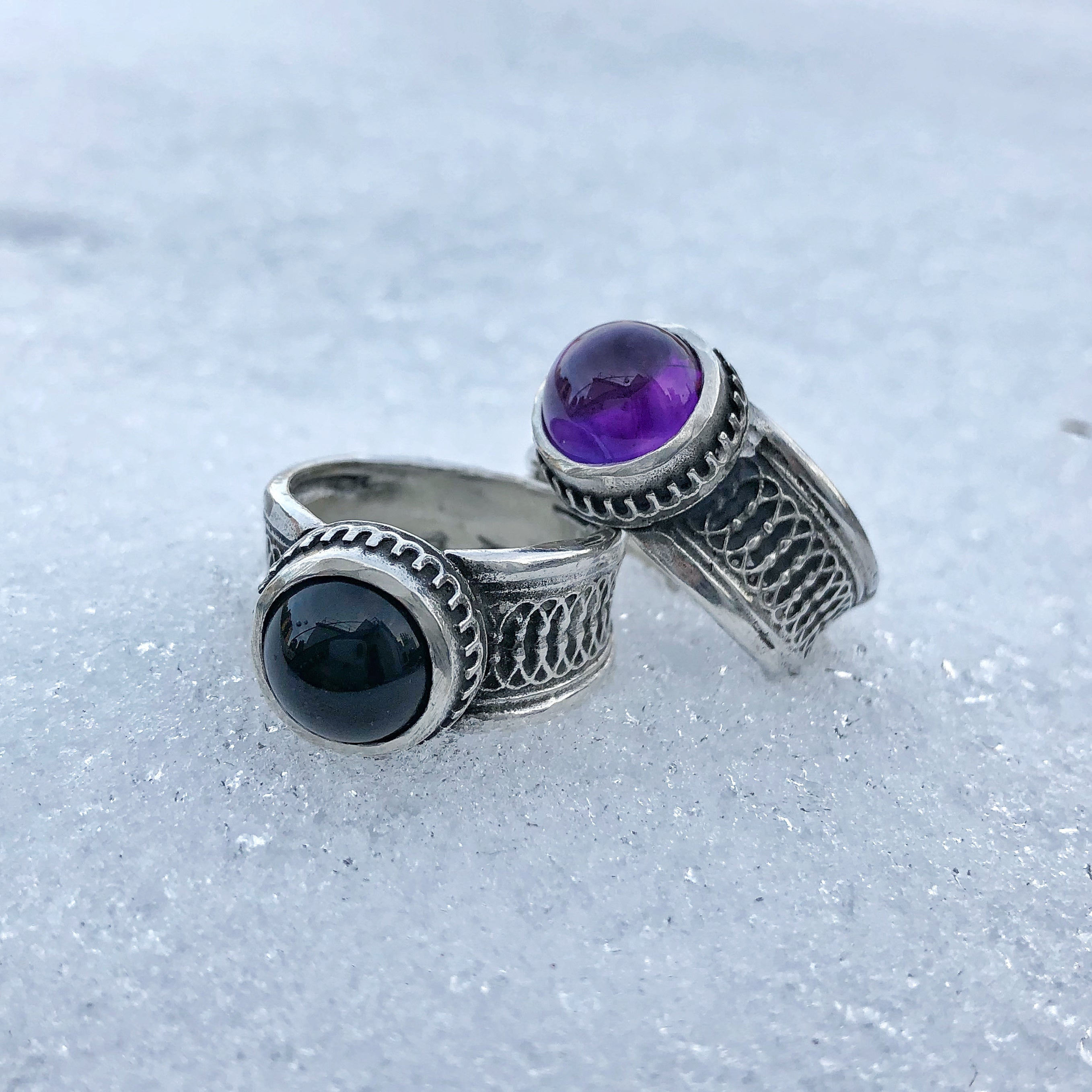 Black Onyx Eternal Orb Ring